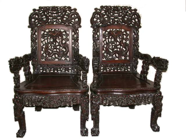 Chair - Oriental Antique Furniture - Www.emwa.com.au - Antique Chinese Chair - Oriental Antiques