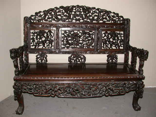 Japan dragon carved chairs antique antiques center for Oriental furniture for sale