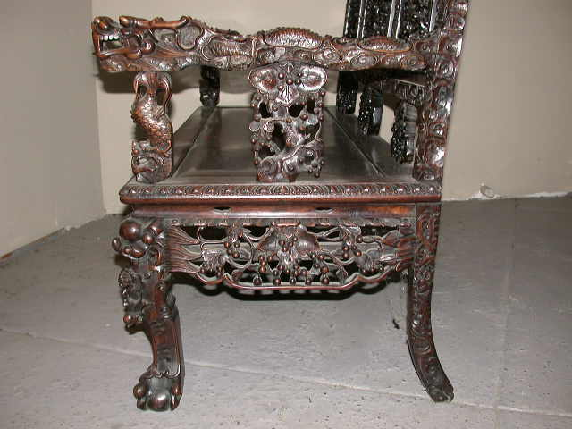Antique chinese official hat chair for Oriental furniture australia