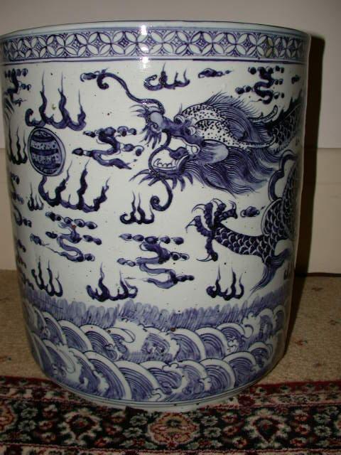 Antique Chinese B&W Pot