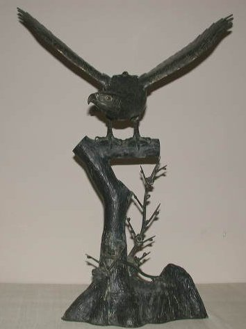 Japanese Bronze Eagle-Japanese Antiques