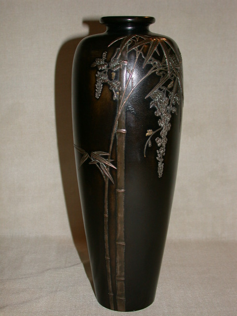 Japanese Bronze Vase-Japanese Antiques
