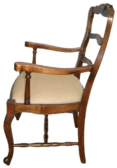 Country French Ladder Back Dining Chairs Chair Pads